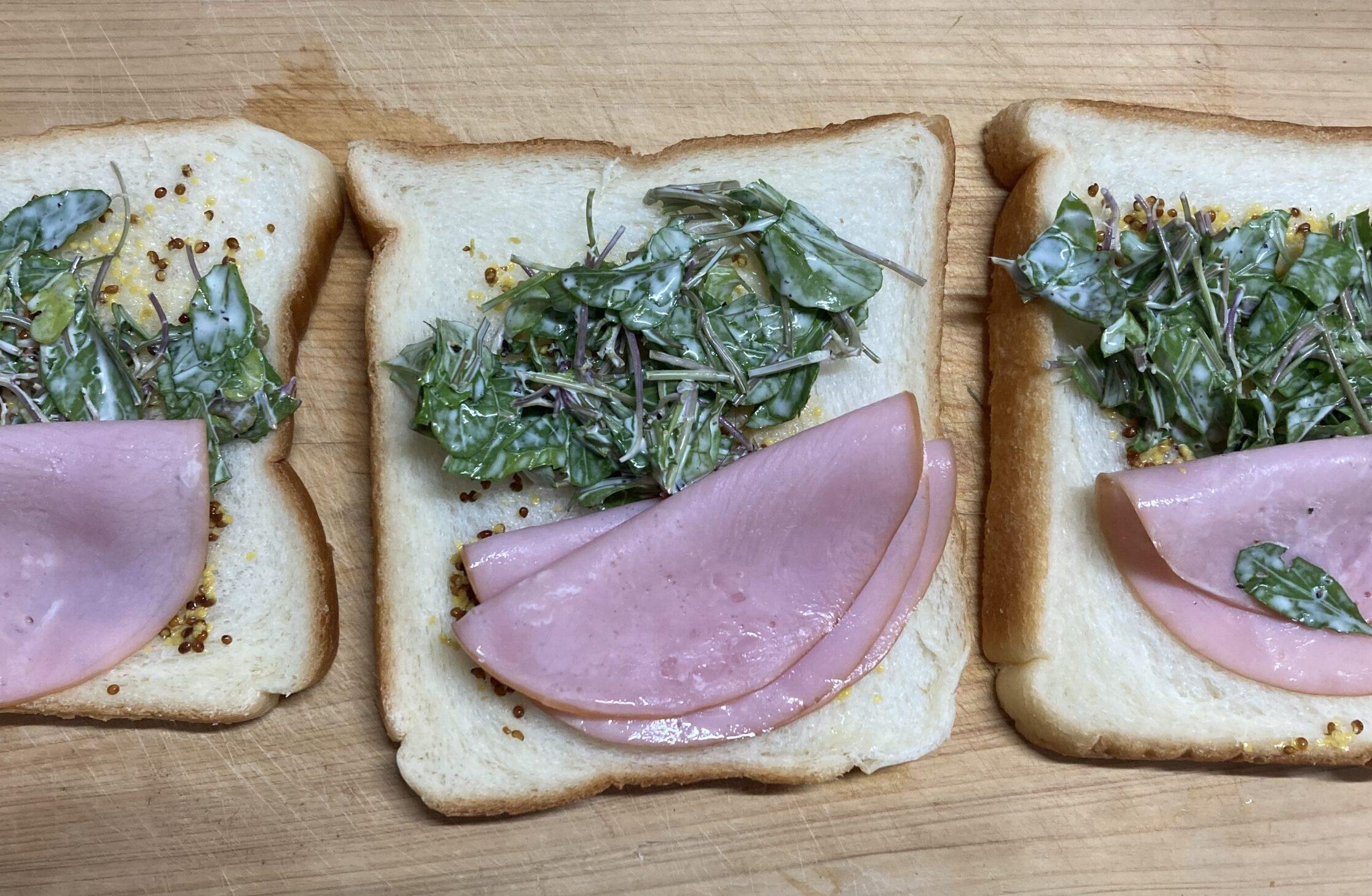 コラとハムのサンドイッチ